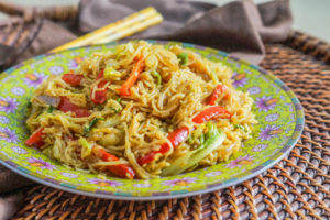 Curry Noodles with Stir Fried Vegetables