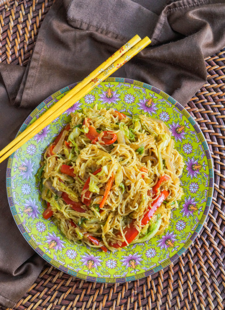 Curry Noodles with Stir-Fried Vegetables (2 of 3)