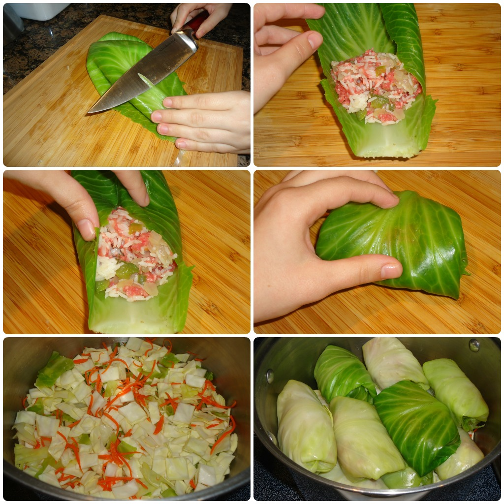 instructions on how to cook cabbage rolls