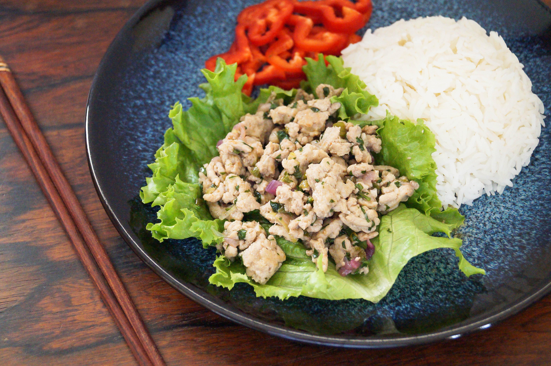 Laab Gai (Thai Minced Chicken) | Tara's Multicultural Table