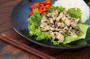 Laab Gai (Thai Minced Chicken)