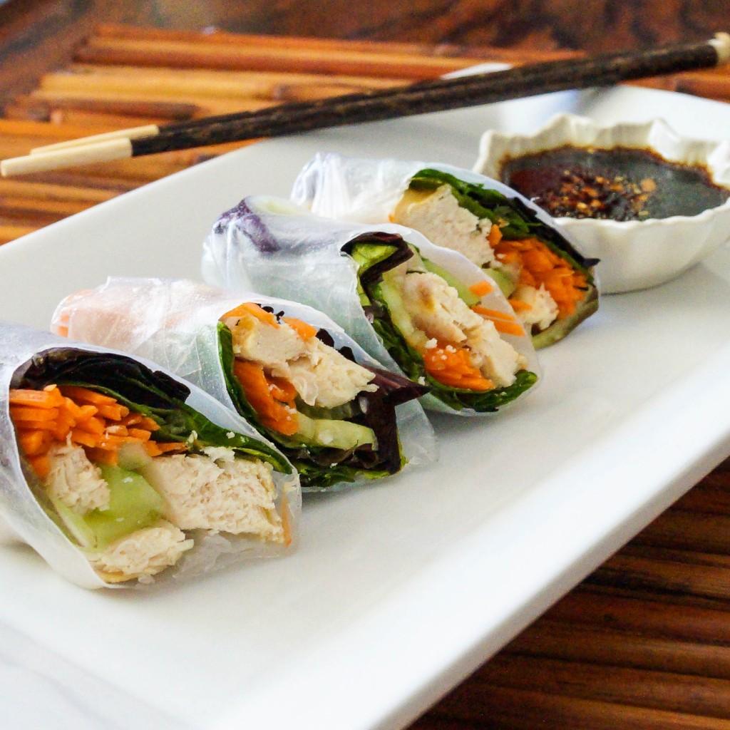 Garlic Chicken Spring Rolls | Tara's Multicultural Table