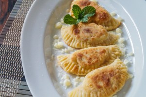 Kremmydopitarakia Milou (Greek Onion, Mint, and Cheese Crescents)