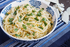 Spaghetti with Browned Butter and Mizithra