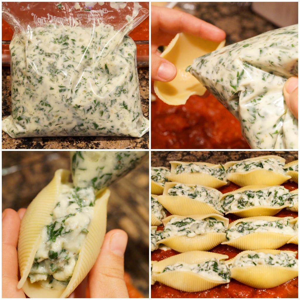 kale and ricotta stuffed shells