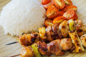 Miso Yakitori (Japanese Grilled Chicken with Miso Glaze)