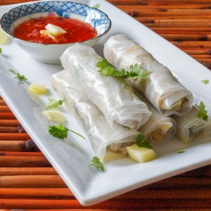 Pineapple Pork Spring Rolls