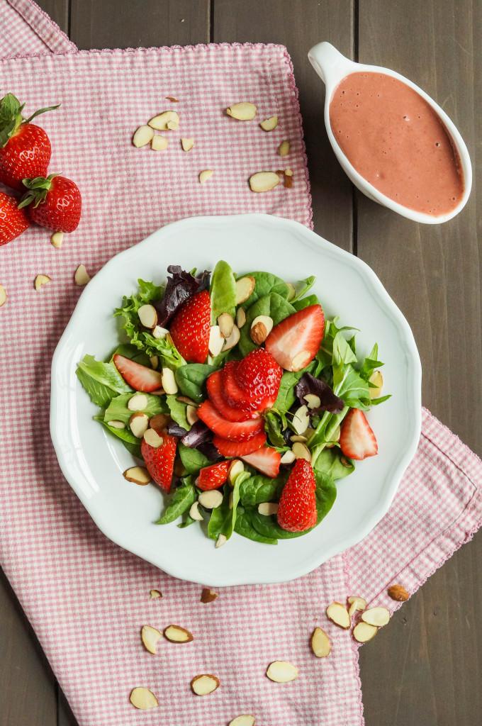 Strawberry Almond Salad (1 of 2)