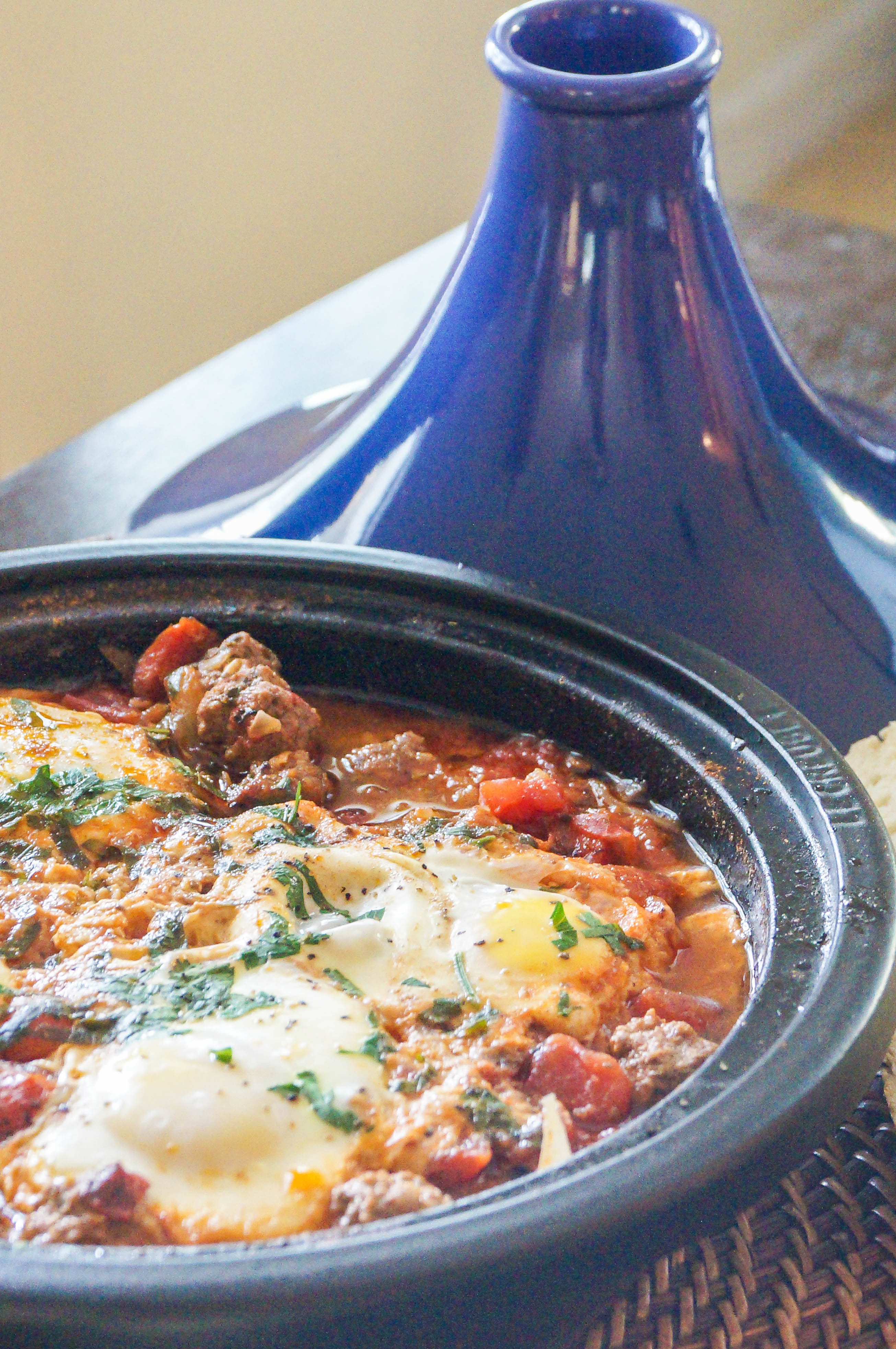 tagine kefta tomato and egg tagine recipes dishmaps kefta tomato and ...