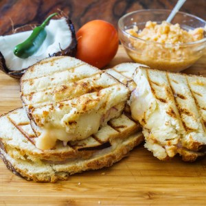 Grilled Cheese Sandwiches with Tomato Coconut Chutney