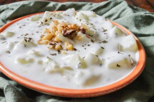 Mast-o-Khiar (Persian Yogurt and Cucumber Dip)