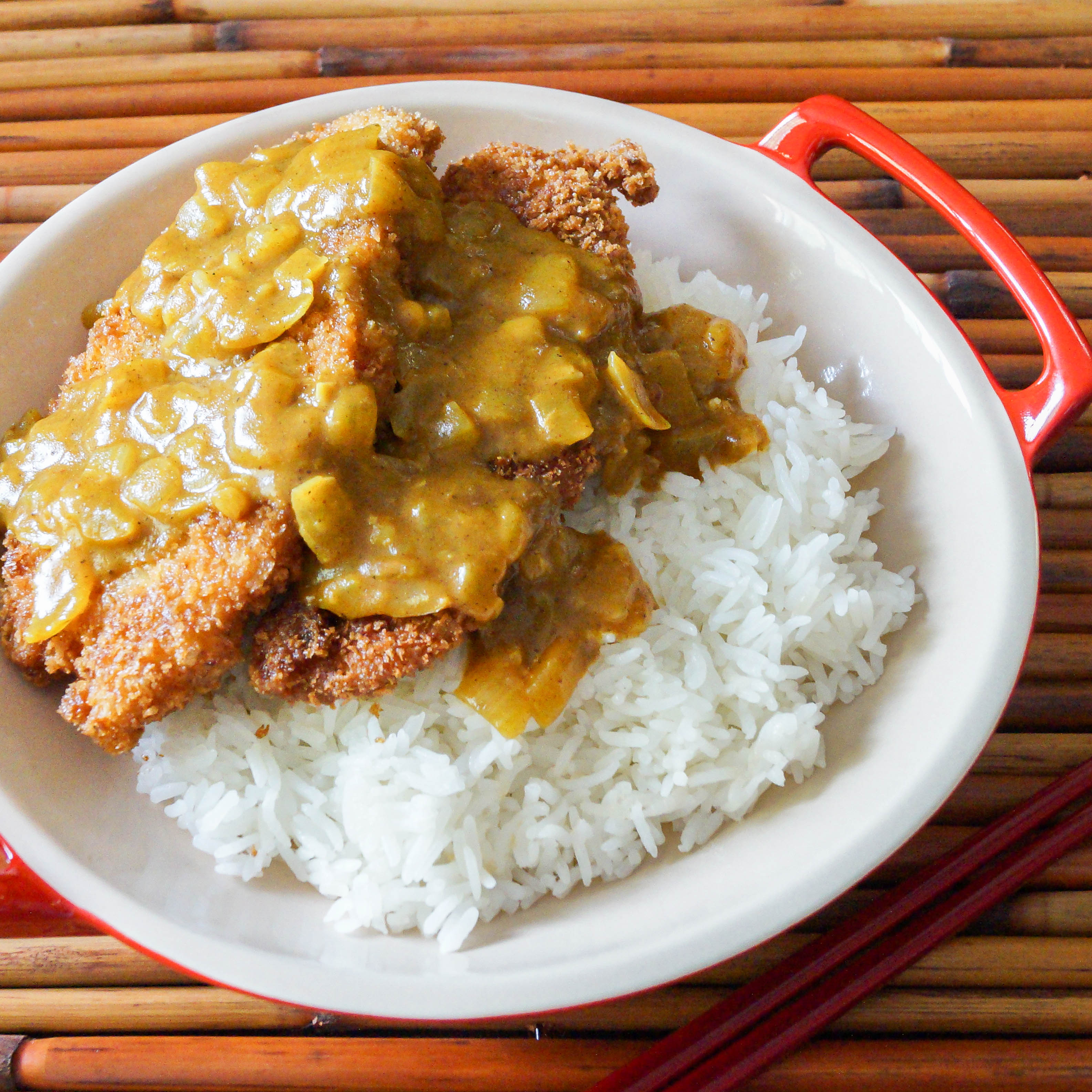 Torikatsu With Coconut Curry Sauce (Japanese Fried Chicken