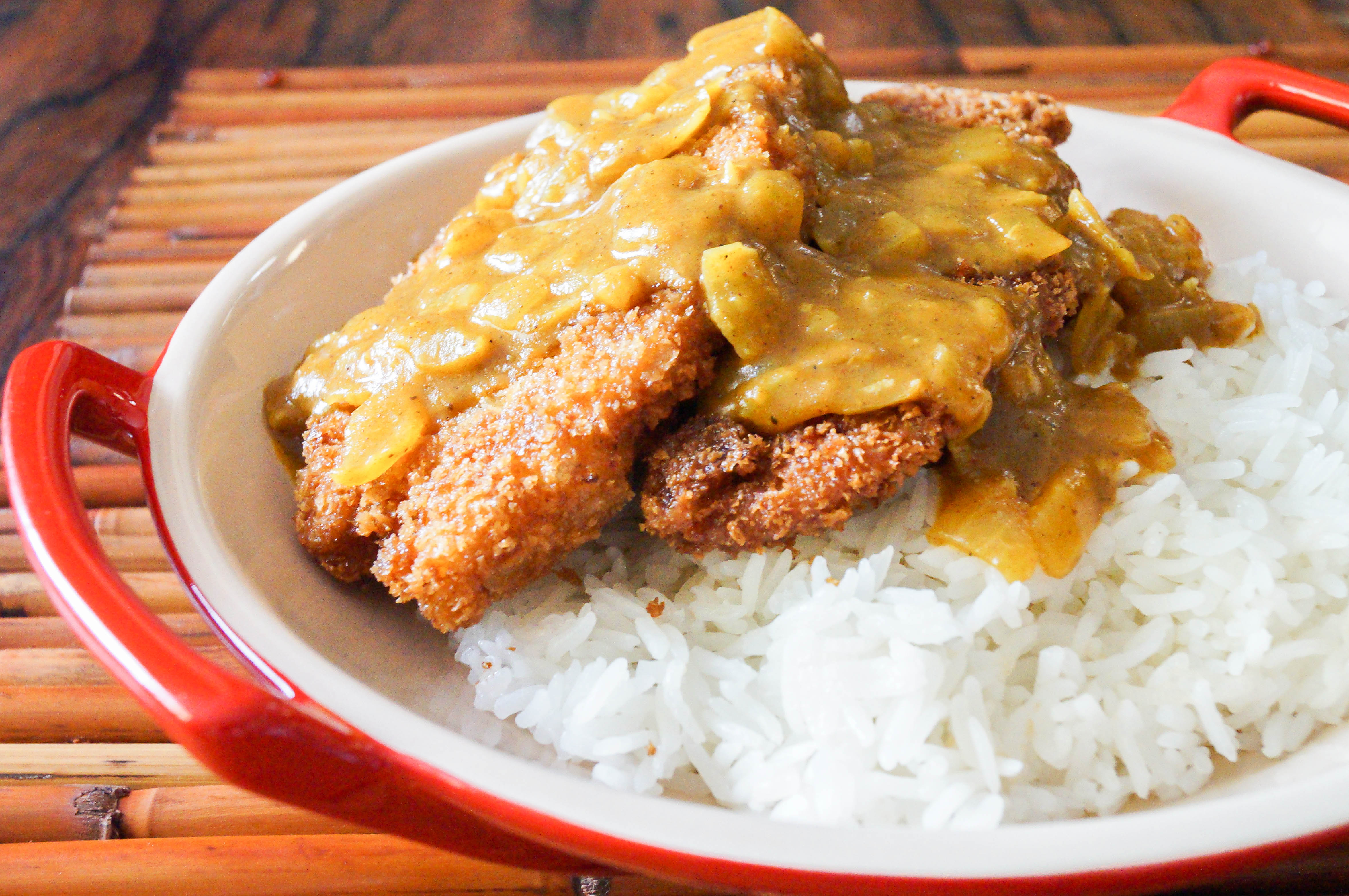 Torikatsu with Coconut Curry Sauce (Japanese Fried Chicken Cutlet)