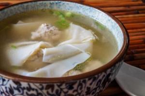 Deconstructed Wonton Soup