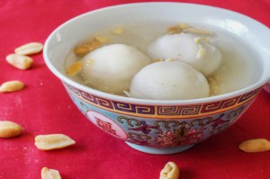 Chinese Peanut Dumplings in Ginger Syrup
