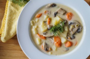 Russian Mushroom and Potato Soup