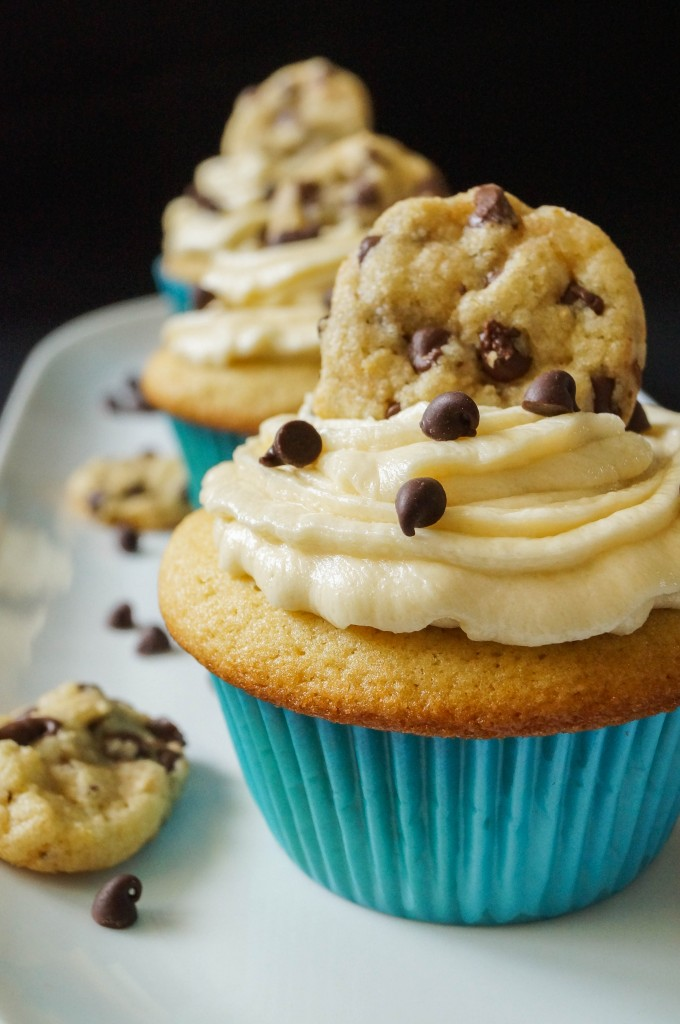 chocolate chip cookie dough cupcakes (1 of 5)