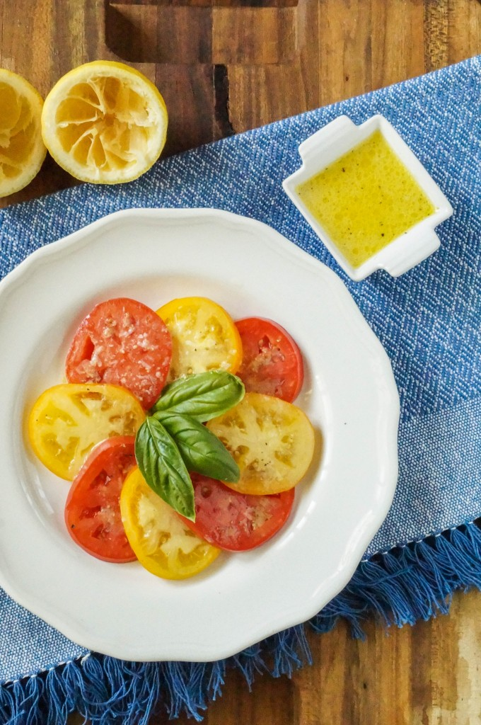 tomato salad with lemon dijon dressing (1 of 3)