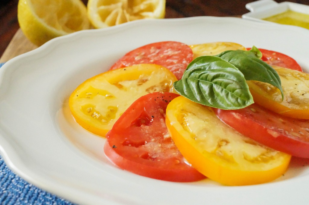 tomato salad with lemon dijon dressing (2 of 3)