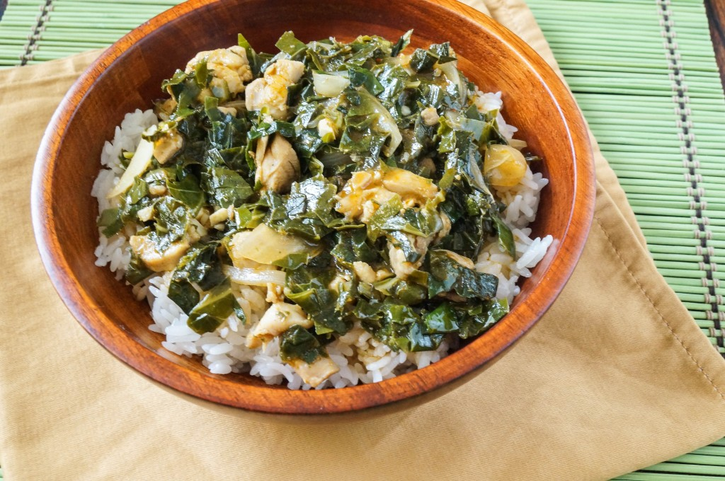 how to cook cassava leaves in congo