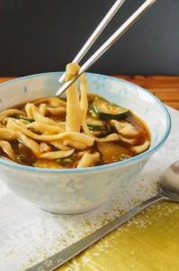 Yachae Kalguksu (Korean Knife Noodle and Vegetable Soup)