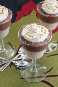 Chocolate and Peanut Butter Pudding Parfaits