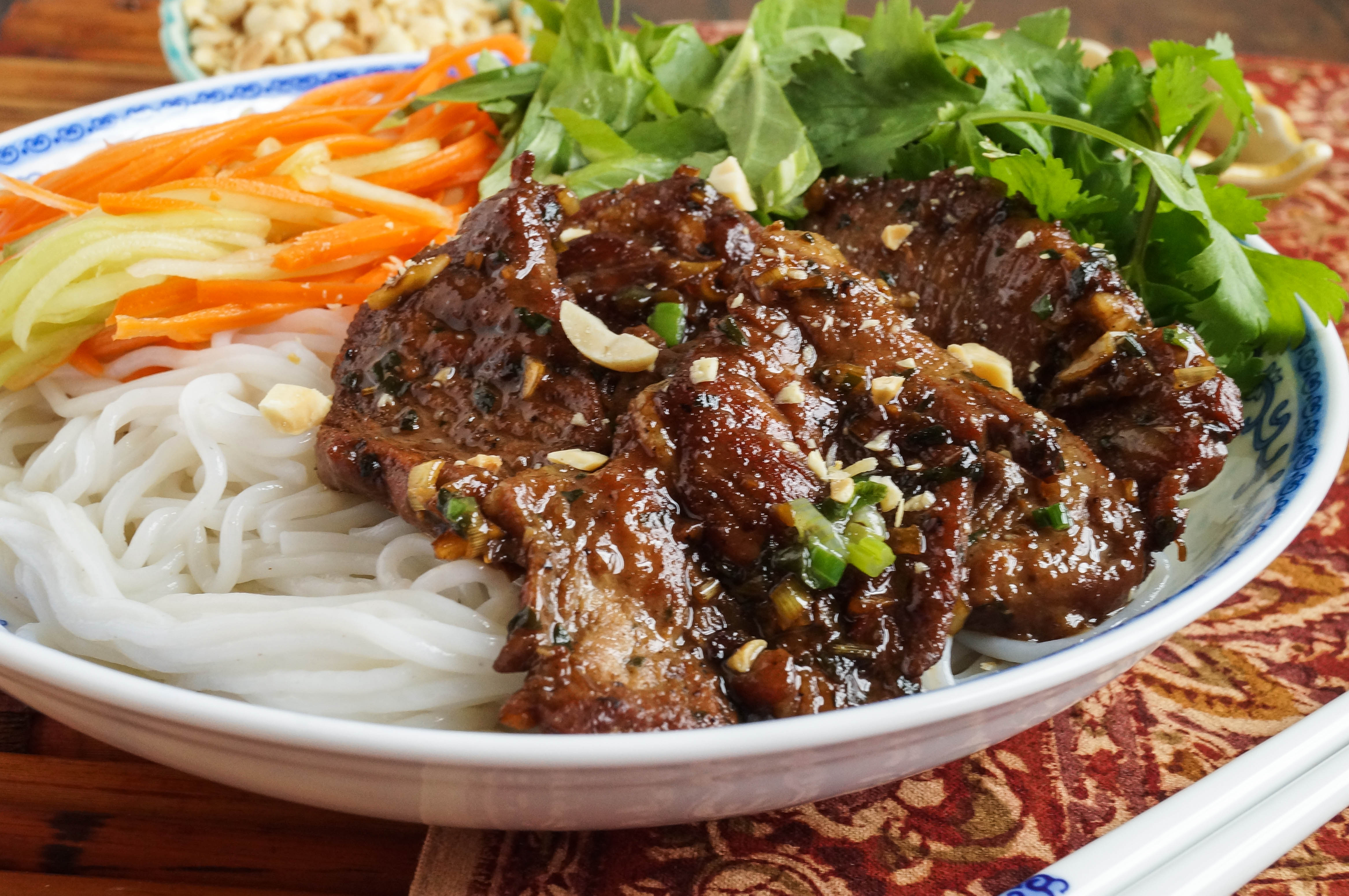 Bún Thịt Nướng (Vietnamese Grilled Pork with Rice Noodles) - Tara's Multicultural Table