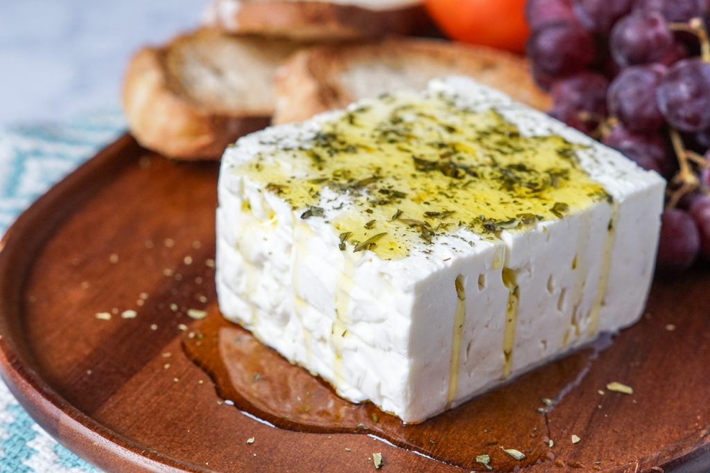 Feta with Oregano and Olive Oil