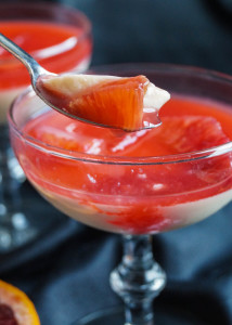 Panna Cotta with Blood Orange Syrup