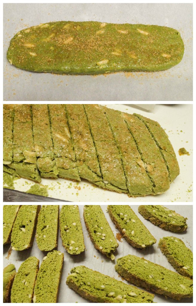 green tea almond biscotti