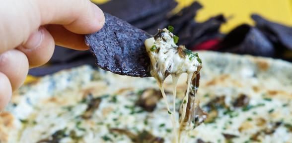 Garlic Mushroom Queso Fundido