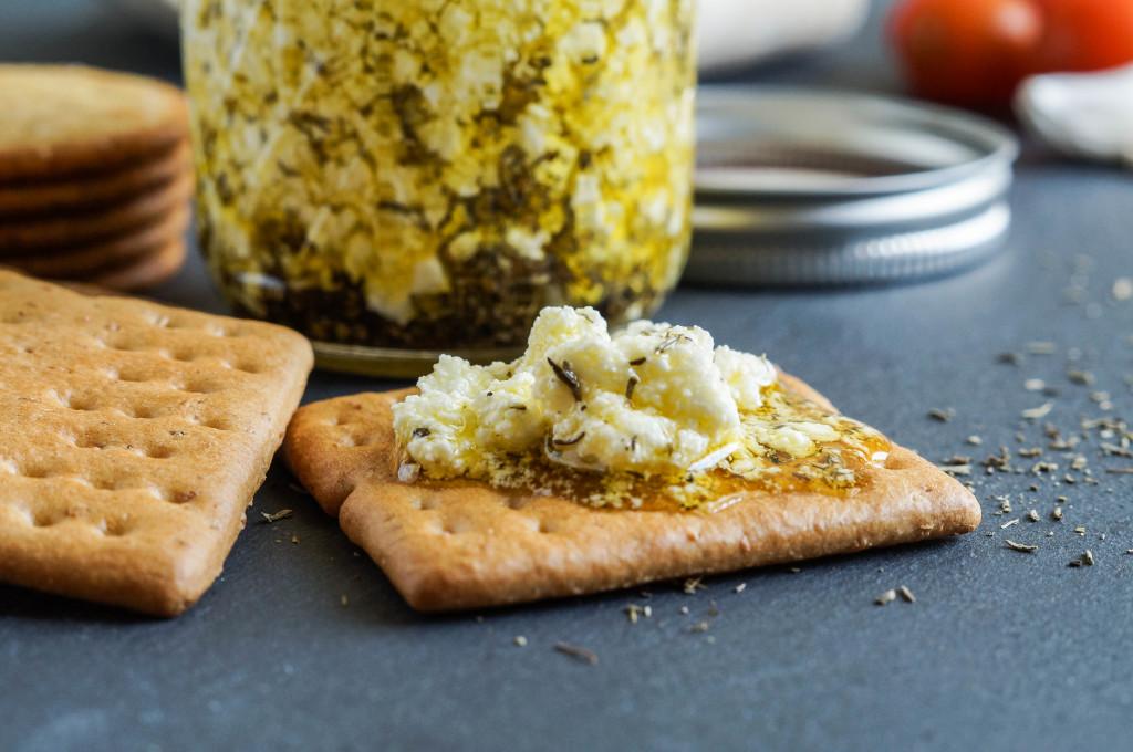 Marinated Goat Cheese Recipe — Dishmaps