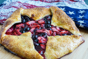 Red and Blue Star Galette
