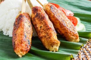 Balinese Food Cookbook Review and Sate Lilit Ayam (Balinese Chicken Satay)