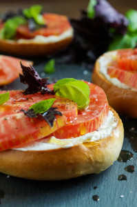 The Broad Fork Cookbook Review and Crisp Toasted Bagel with Fromage Blanc, Tomato, Sea Salt, and Basil