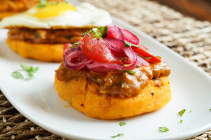 #FoodieExtravaganza Potatoes: Llapingachos (Ecuadorian Stuffed Potato Patties)