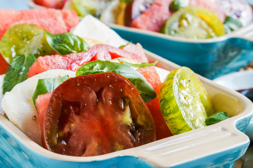 Watermelon Peach Caprese Salad (2 of 3)