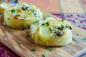 Secret Recipe Club: Garlic and Herb Potato Gratin