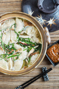Donabe Cookbook Review and Gyoza Nabe (Japanese Dumpling Hot Pot)