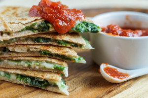 Spinach Feta Quesadilla