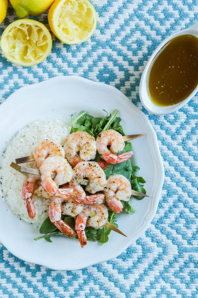 Shrimp with Ladolemono (Greek Lemon Olive Oil Sauce) (1 of 3)