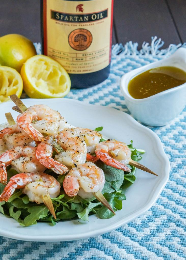 Shrimp with Ladolemono (Greek Lemon Olive Oil Sauce) (2 of 3)