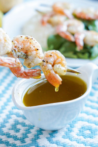 #EVOOChallenge: Shrimp with Ladolemono (Greek Lemon Olive Oil Sauce)