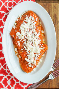 Enchiladas Cookbook Review and Enchiladas Rojas de Queso (Red Enchiladas with Cheese)