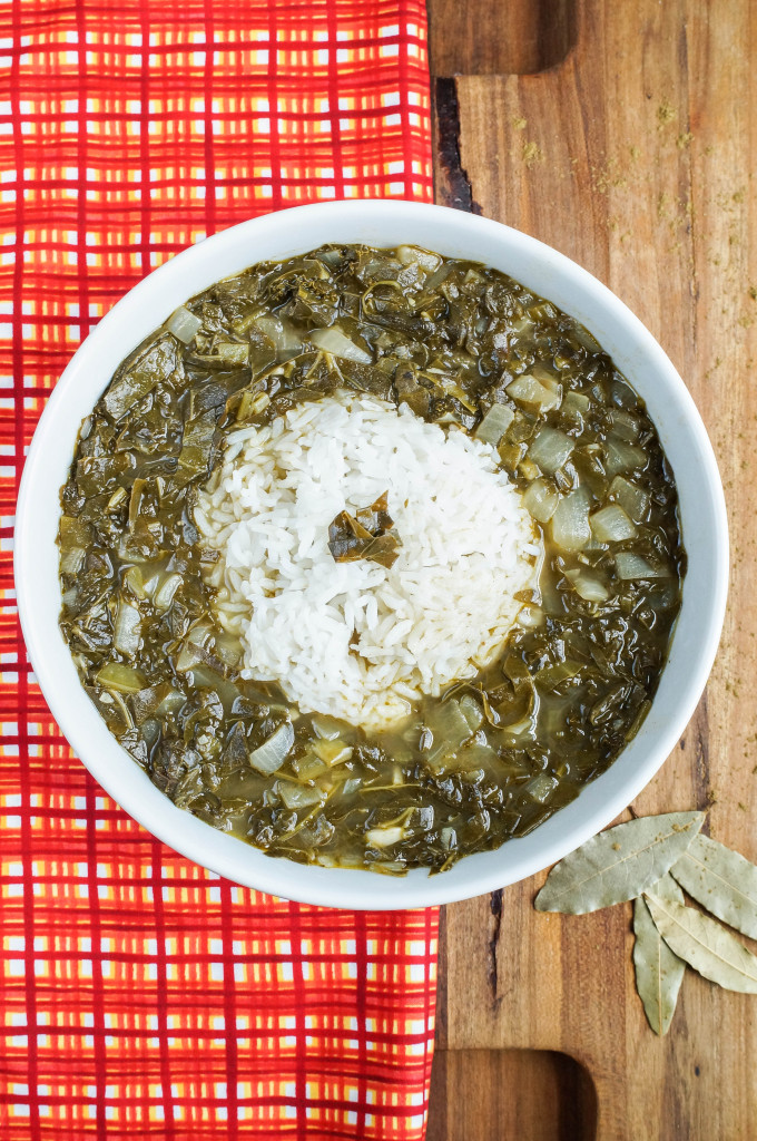 Gumbo Z'herbes (Louisiana Gumbo with Herbs) (1 of 3)
