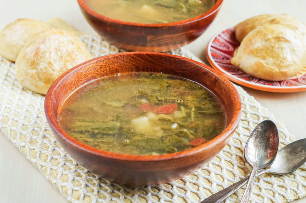 Sopa de Acelgas con Papas (Mexican Swiss Chard and Potato Soup) (1 of 3)