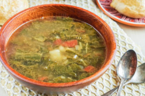 Sopa de Acelgas con Papas (Mexican Swiss Chard Soup with Potatoes)