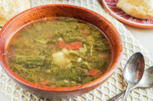 Sopa de Acelgas con Papas (Mexican Swiss Chard Soup with Potatoes)