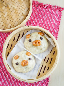 Yummy Kawaii Bento Cookbook Review and Steamed Piggy Buns