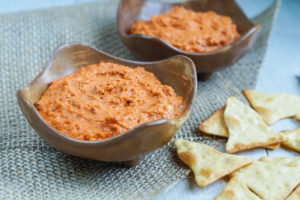 #SecretRecipeClub: Roasted Tomato, Almond, and Tahini Dip